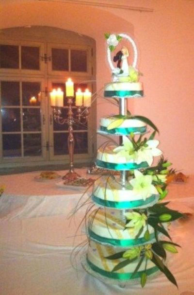 Beispiel: Torten über mehrere Etagen, Foto: monas-torten-art.ch.