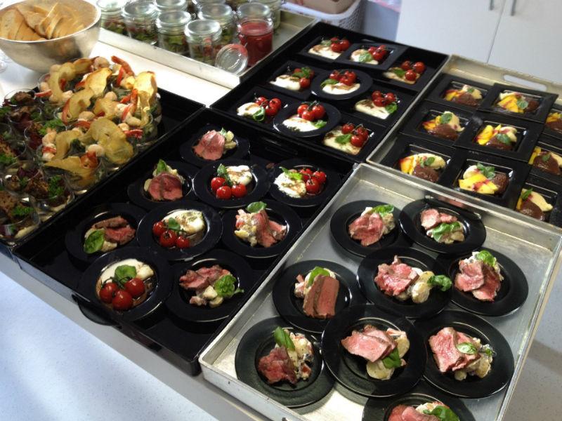 Beispiel: Buffetvariantionen, Foto: Adel.es Catering.