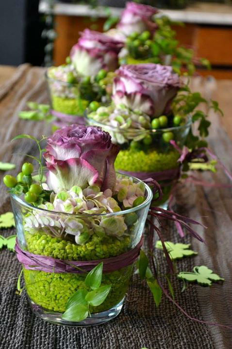 Besipiel: Tischdekoration, Foto: Susanne Simon Blumen.