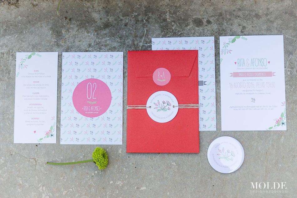 Convite de Casamento + Restantes peças gráficas