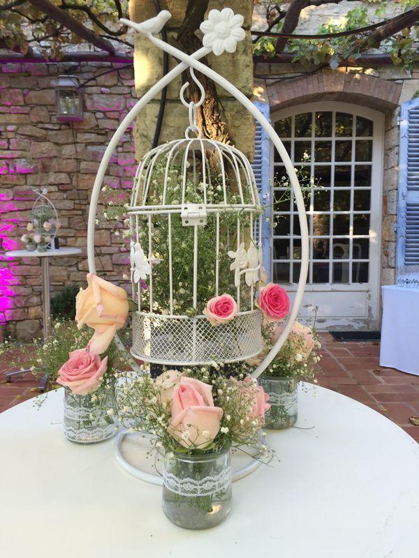 cage a oiseaux fleurie