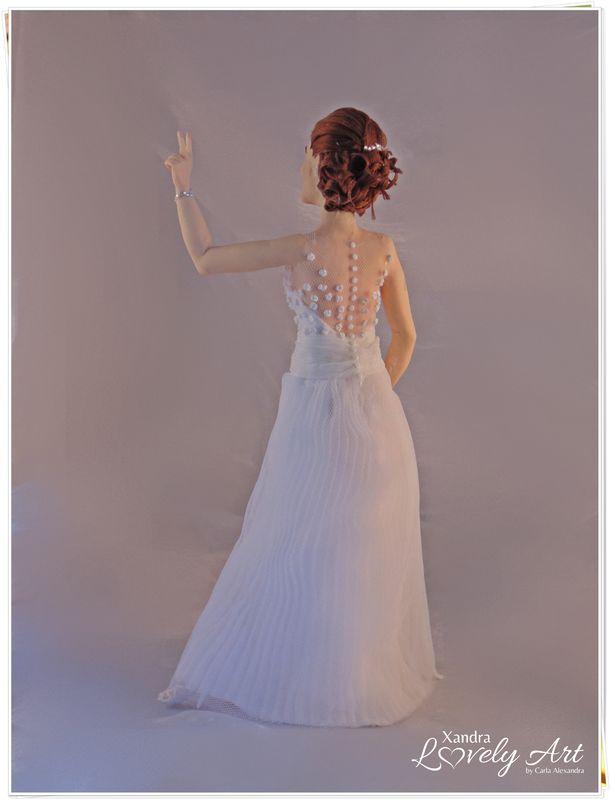 Detalhes de costas do vestido