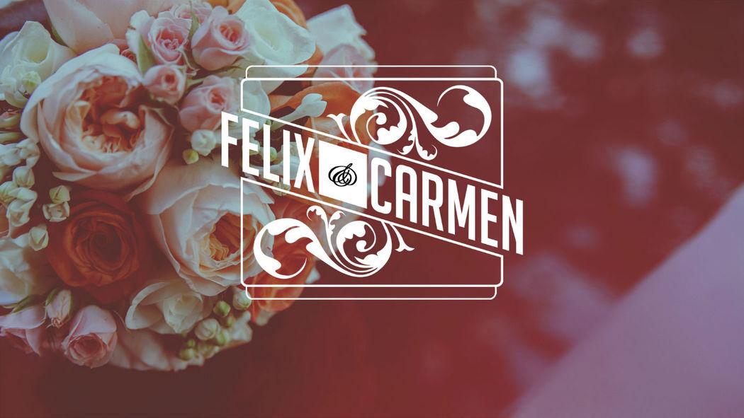 Portada del vídeo de la boda de Felix y Carmen.