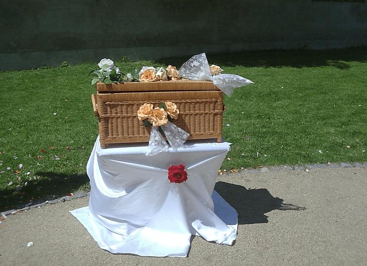 Beispiel: Hochzeitstauben - Korb, Foto: Hochzeitstauben Paradies.