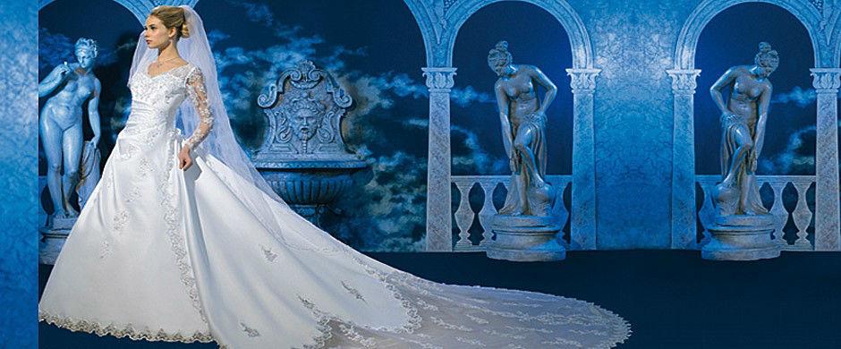 Beispiel: Wunderschöne Brautkleider, Foto: Babylon Brautmoden Outlet.