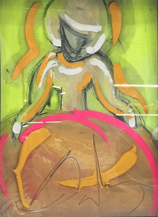 Menina 42 x 32 cm Óleo sobre tabla