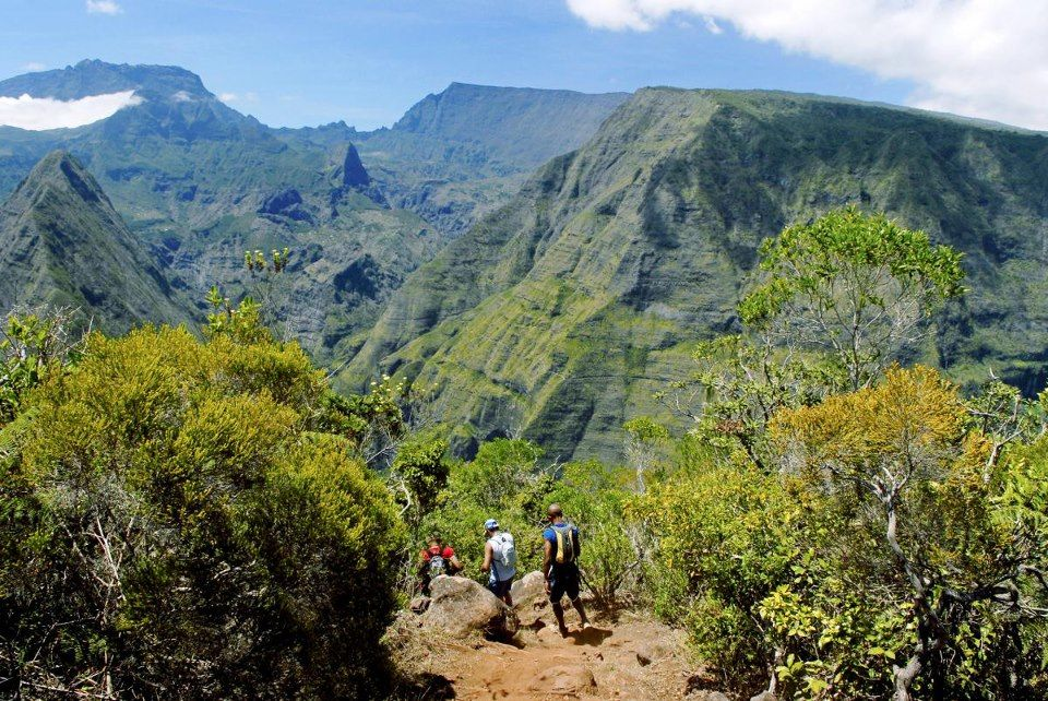 Randonneurs à La Réunion