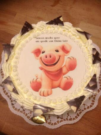 Beispiel: Thematik-Spezialtorte, Foto: Tortenparadies München.