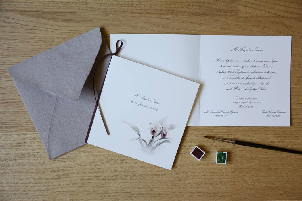 Invitación modelo orquídea.