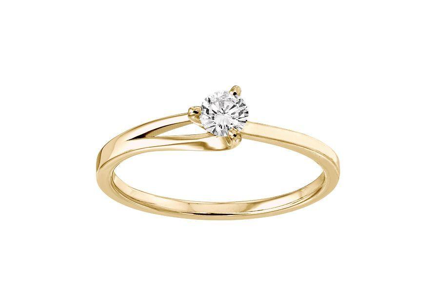 Solitaire Étoile - Or jaune & Diamant éthique du Botswana