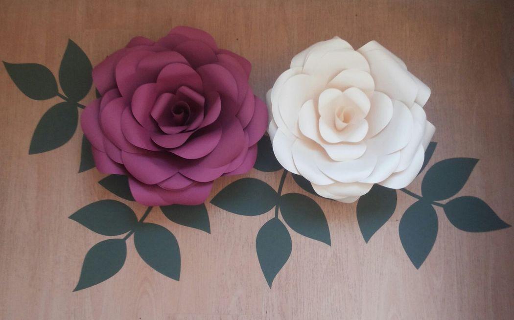 Flores gigantes 35 cm diámetro aprox.