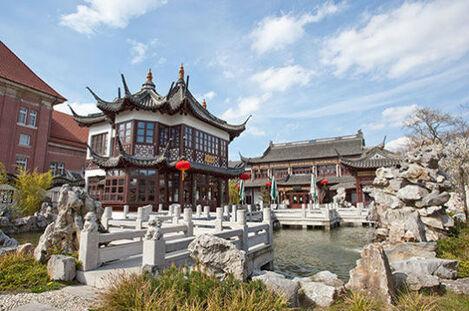 Beispiel: Außenansicht - Gartenanlage, Foto: Chinesisches Teehaus Yu Garden.