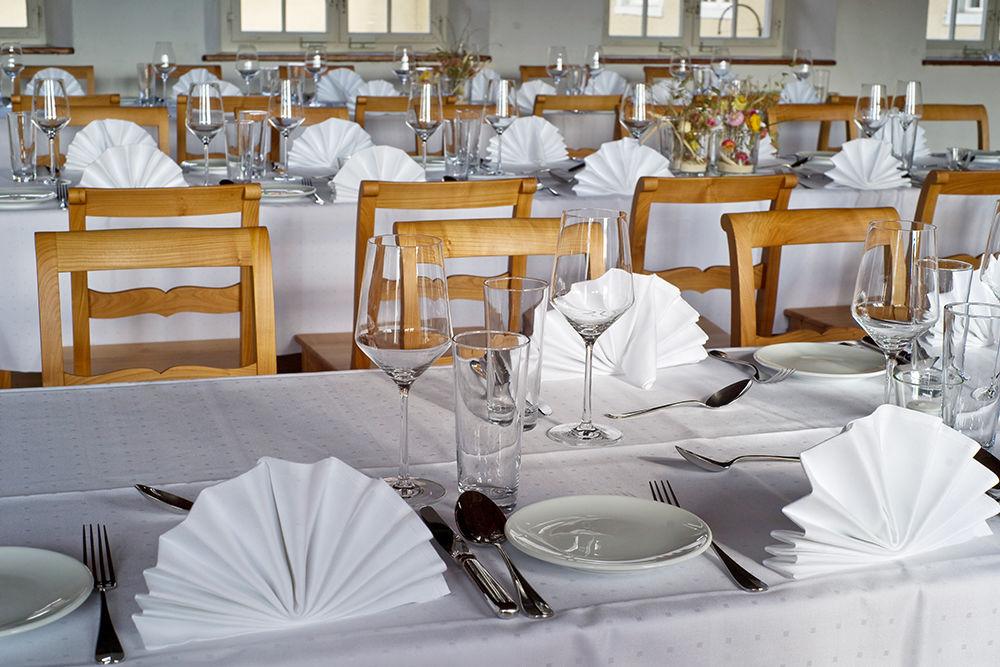 Beispiel: Tischdekoration, Foto: Greuterhof Islikon.