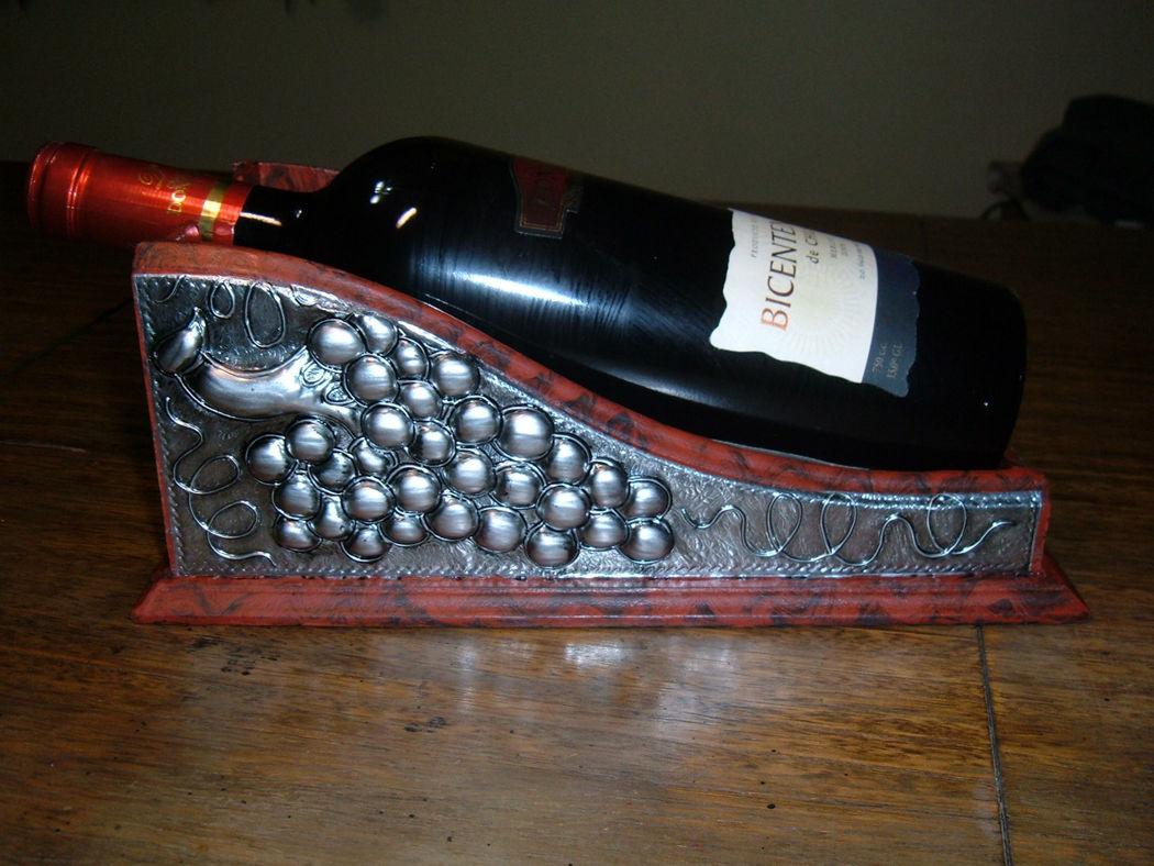Posa-botella aluminio