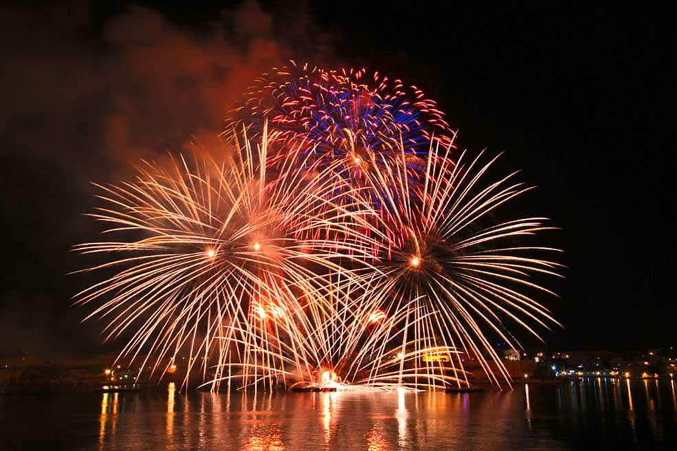 Beispiel: Feuerwerk, Foto: Bad Schauenburg.