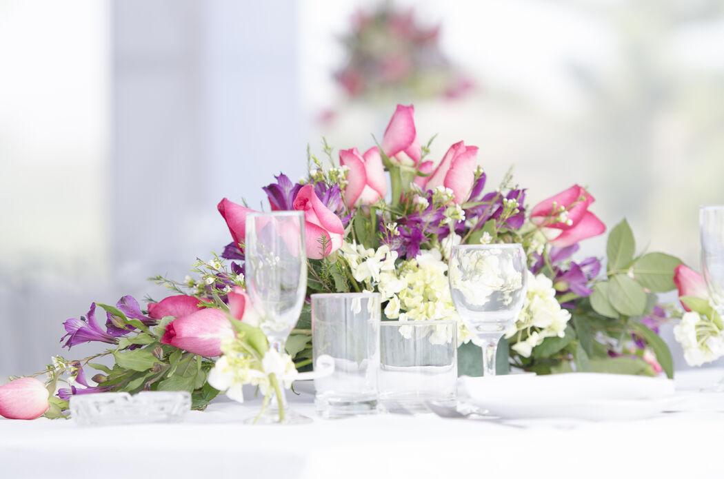 frescas rosas de vivero