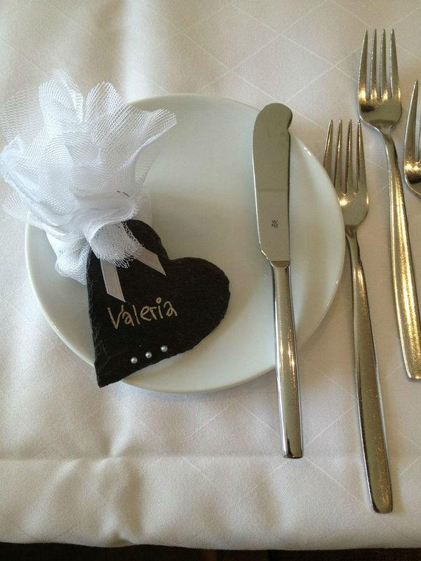 Beispiel: Gastgeschenke und Tischkärtchen, Foto: Die Hochzeitsfeen.