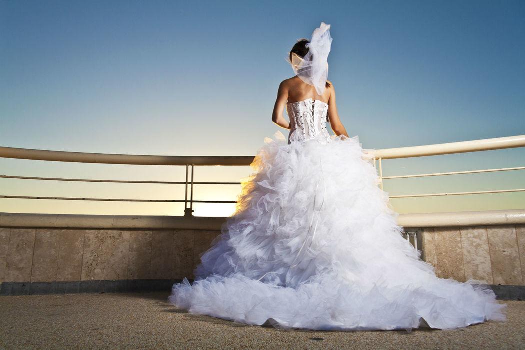 Abito da Sposa con bustino trasparente