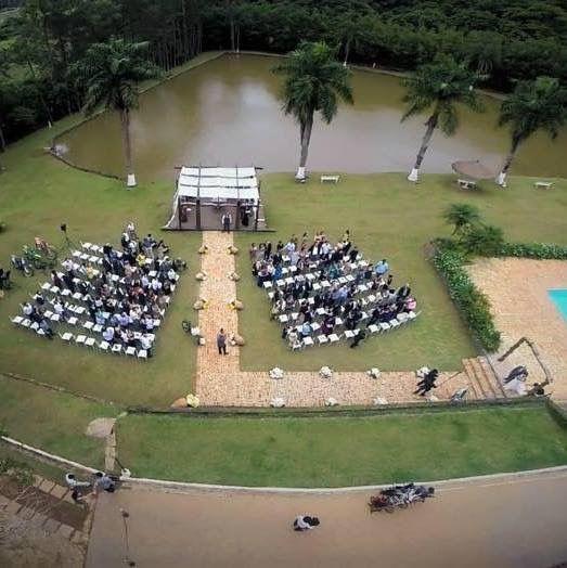 Vista panorâmica do local da cerimonia