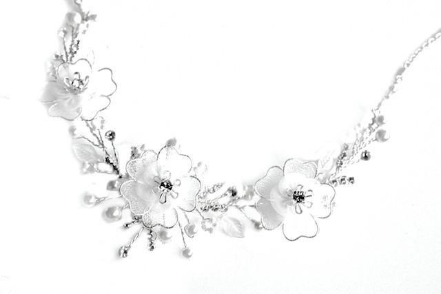Arya Italian Jewels - Gioielli Sposa e Matrimonio - Collana Sposa  con fiori e Swarovski