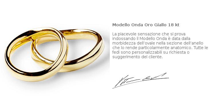 Fedi Matrimoniali Efrem Guidi Oro giallo LGBT community Wedding Italy Milano Brera Modello Onda