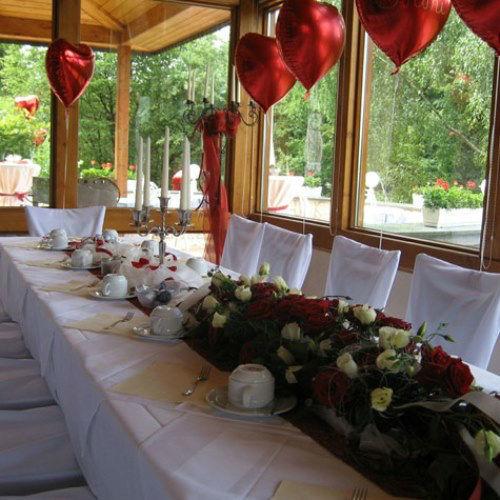 Beispiel: Hochzeitsdekoration, Foto: Das Deko Team.