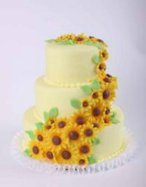 Beispiel: Hochzeitstorte: Sonnenhochzeit, Foto: Beck Lyner.