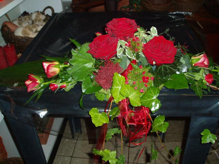 Beispiel: Tischgesteck, Foto: Blumen G. Bechstein.