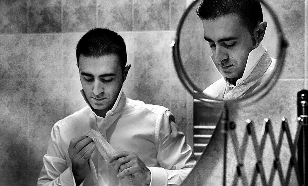 Preparativi sposo a Milano