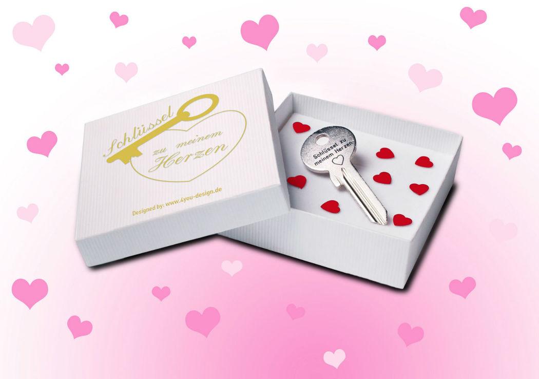 Schlüssel zu meinem Herzen inklusive Wunschgravur Foto: Hot-Princess.de.