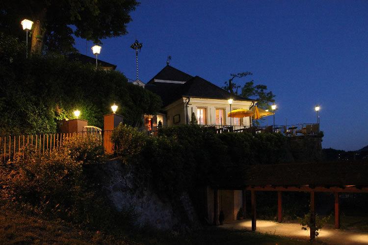 Beispiel: Außenansicht bei Nacht, Foto: Greiffenegg Schlössle.