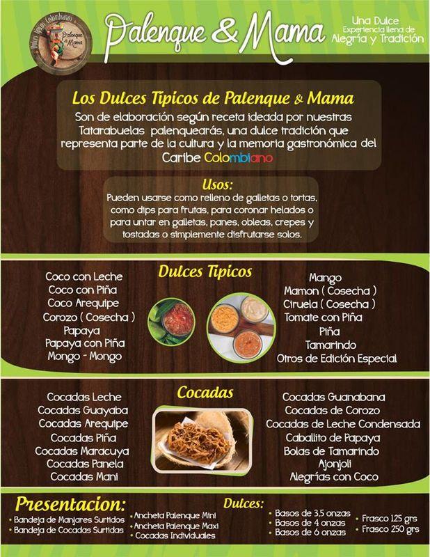 Palenque & Mama Dulces Típicos Colombianos