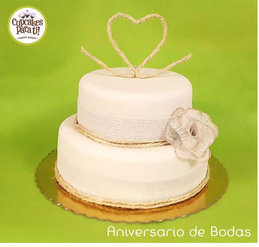 Cupcakes para ti! Torta para Aniversario de Boda