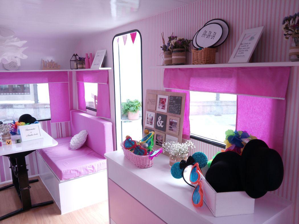 Decoración Interior RetroCaravan El Botón  Rosa