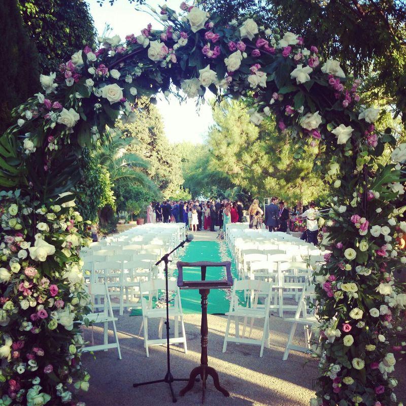 Arco de flores ceremonia civil