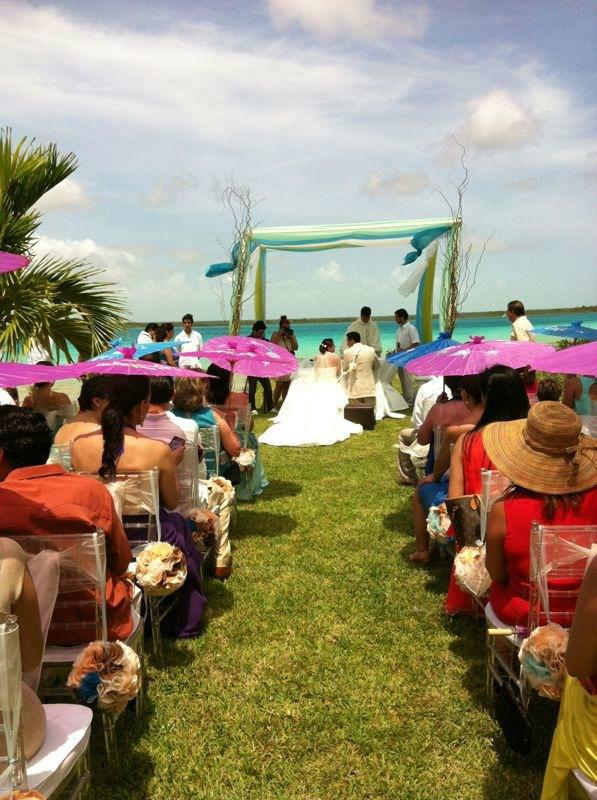 Ceremonia de Bendición a la Orilla de la Laguna de Bacalar