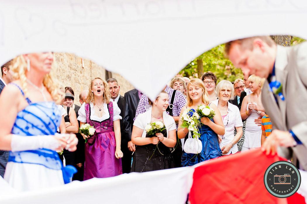 Beispiel: Ihre Hochzeitsgeschichte in Bildern, Foto: Tian Lan Photography.