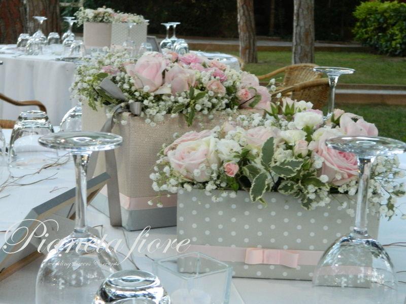 Centrotavola box flower romantico e originale
