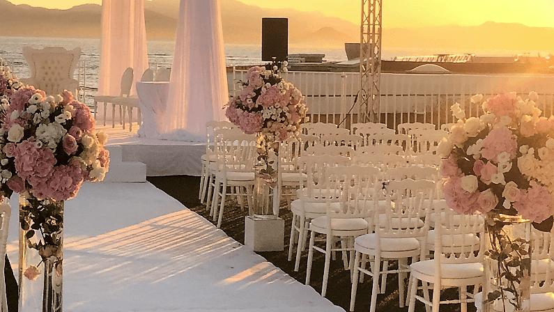 décoration allée nuptiale