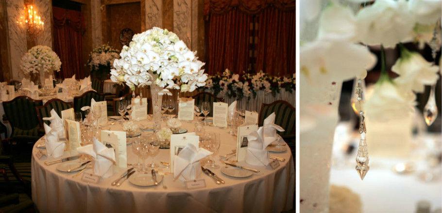 Beispiel: Tischdekoration, Foto: Avorio Hochzeitsorganisation.