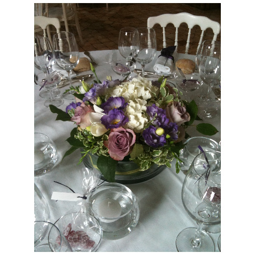 Composition florale centre de table - Magie de l'Ephémère