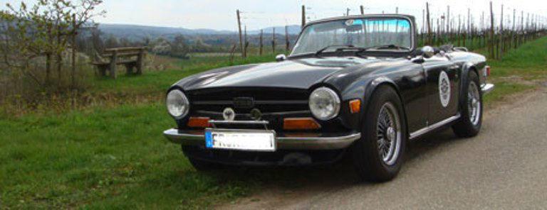 Beispiel: Triumph TR6, Foto: Roadster Reise Träume.