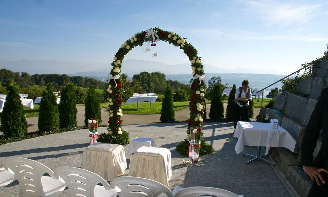 Beispiel: Hochzeitsdekoration, Foto: Hotel Restaurant Vogelsang.