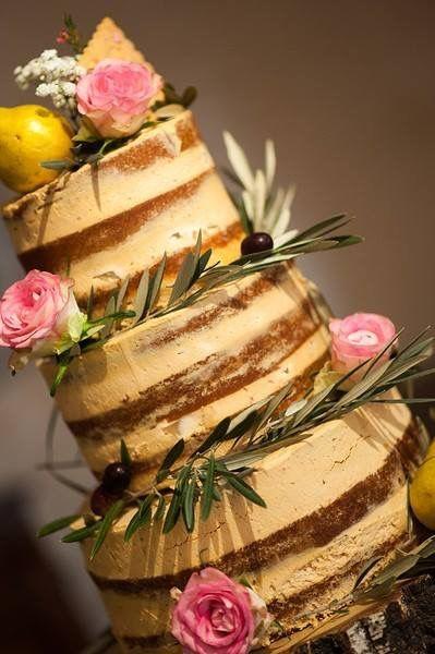 Naked cake poire caramel