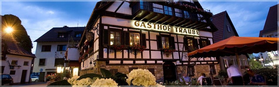 Beispiel: Außenansicht, Foto: Traube Romantisches Hotel & Restaurant.
