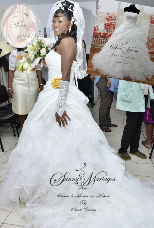 robes de mariee coupe princesse bustier dentelle et taffetas http://sunnymariages.com