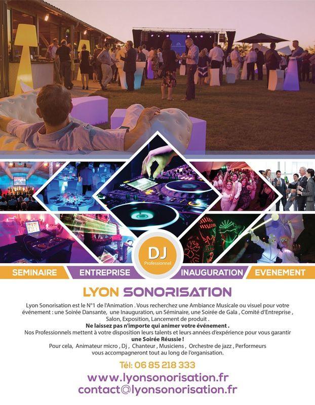 Flyer Lyon sonorisation pour entreprises