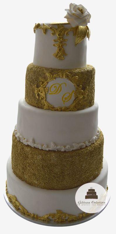 wedding cake rosa gold