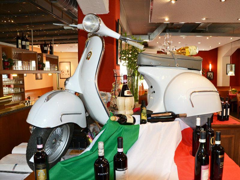 Beispiel: Restaurant - Dekoration, Foto: Ristorante Borsalino.