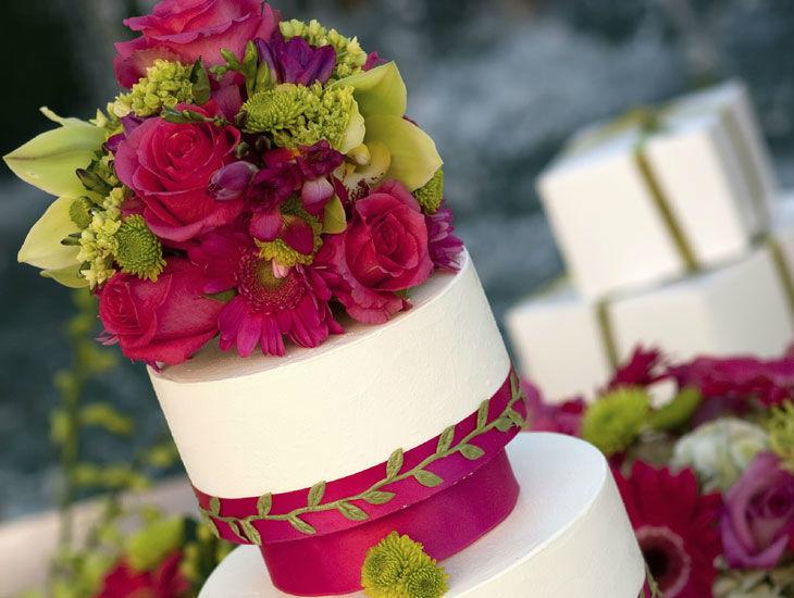 Beispiel: Hochzeitstorte, Foto: DDSG Blue Danube.